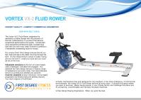 VX2 FLUID ROWER BROCHURE